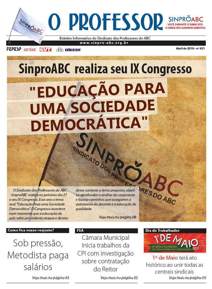 Boletim O PROFESSOR Edicao Abril 2019 web 1